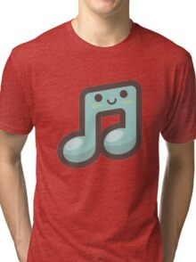 Cute Happy Music Symbol Tri-blend T-Shirt