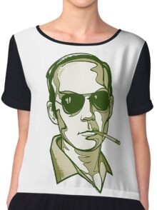 Hunter S. Thompson green Chiffon Top