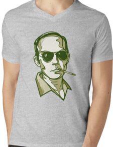 Hunter S. Thompson green Mens V-Neck T-Shirt