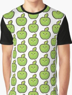 Cute Happy Green Apple Graphic T-Shirt