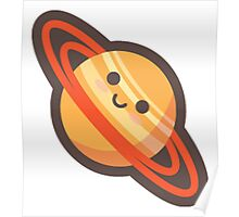 Cute Happy Saturn Poster