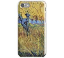 Vincent Van Gogh - Pollarded Willows And Setting Sun 1888 iPhone Case/Skin