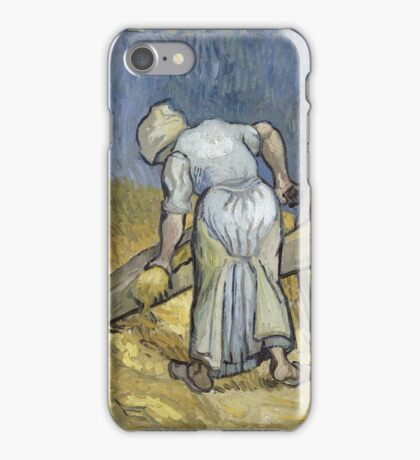 Vincent Van Gogh - Peasant Woman Bruising Flax (After Millet) 1889 iPhone Case/Skin