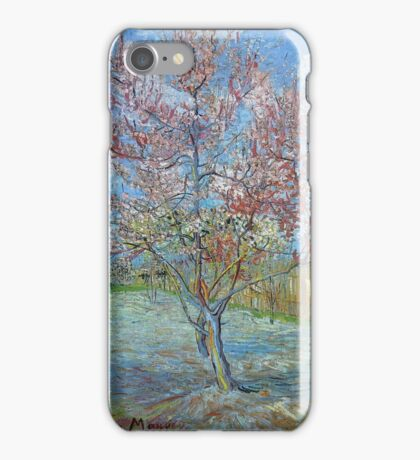 Vincent Van Gogh - Peach Tree In Bloom (In Memory Of Mauve), 1888 iPhone Case/Skin