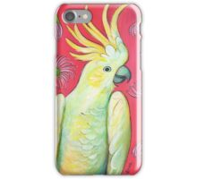 Cockatoo and gum blossoms iPhone Case/Skin
