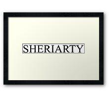 Sheriarty -- Sherlock Framed Print