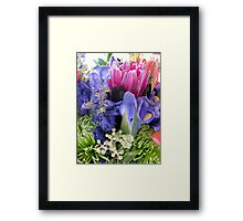 Unique Flower Bouquet Framed Print