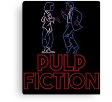 Pulp Fiction - Neon Lights Canvas Print