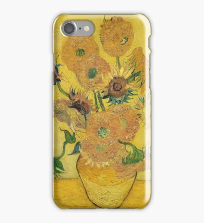 Vincent Van Gogh - Vase With Fifteen Sunflowers, 1889 iPhone Case/Skin