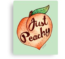 Just Peachy Watercolor Painting Canvas Print