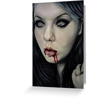 Vampire Greeting Card