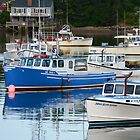 Boats on Bass Harbor by Karen Jayne Yousse