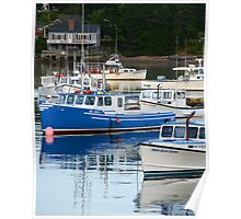 Boats on Bass Harbor Poster