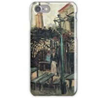 Vincent Van Gogh - Terrace Of A Cafe On Montmartre (La Guinguette), 1886 iPhone Case/Skin