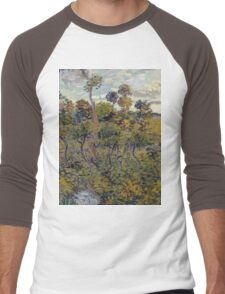 Vincent Van Gogh - Sunset At Montmajour, 1888 Men's Baseball ¾ T-Shirt