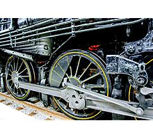 Locomotive wheels Photographic Print
