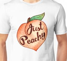 Just Peachy Watercolor Stickers and Shirts Unisex T-Shirt