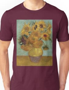 Vincent Van Gogh - Sunflowers, 1889 Unisex T-Shirt