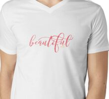Just Beautiful Mens V-Neck T-Shirt