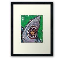 Shark Kill Zone Framed Print