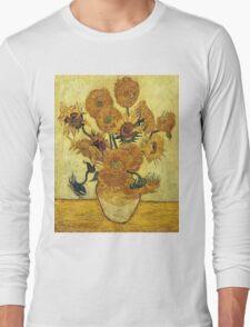 Vincent Van Gogh - Sunflowers 1888  Long Sleeve T-Shirt