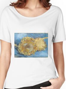 Vincent Van Gogh - Still Life With Two Sunflowers, 1887 Women's Relaxed Fit T-Shirt
