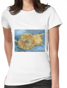 Vincent Van Gogh - Still Life With Two Sunflowers, 1887 Womens Fitted T-Shirt