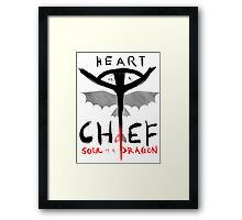 HEART of a CHIEF, SOUL of a DRAGON Framed Print