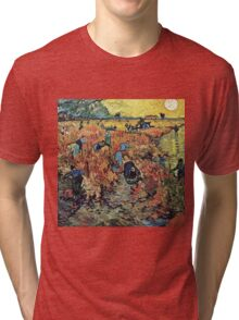 Vincent Van Gogh - Red Vineyards  Tri-blend T-Shirt