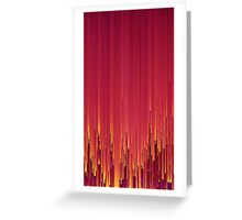 Red Glitch Greeting Card