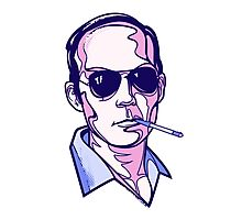 Hunter S. Thompson violet Photographic Print