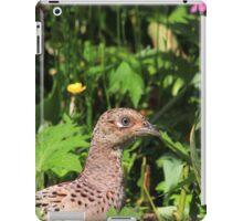 Female pheasant in garden iPad Case/Skin