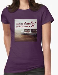 Dark Side has Chocolate Womens Fitted T-Shirt