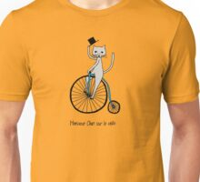 Cat-On-The-Bike Unisex T-Shirt