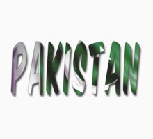Pakistan Word With Flag Texture One Piece - Short Sleeve