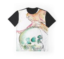 Owl and Skull Graphic T-Shirt