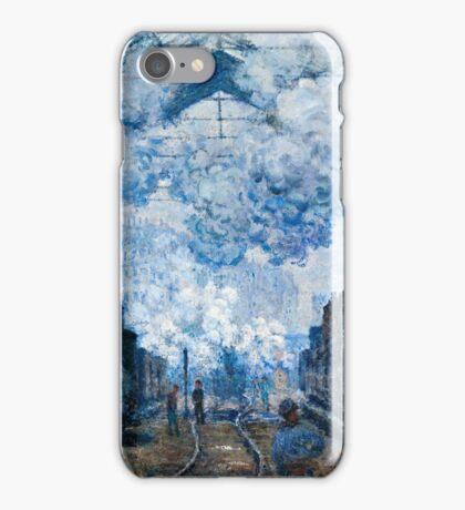 Claude Monet - The Gare Saint Lazare Arrival of a Train (1877)  iPhone Case/Skin