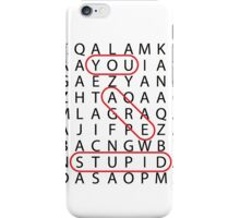 Word Search! iPhone Case/Skin