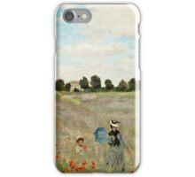 Claude Monet - Poppy Field (1873)  iPhone Case/Skin