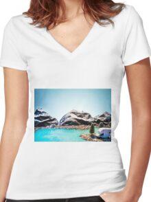 Queenstown New Zealand Women's Fitted V-Neck T-Shirt