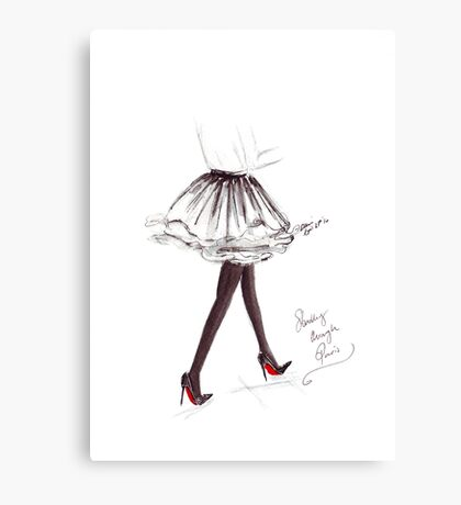 Strolling Through Paris Canvas Print