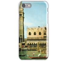 Canaletto Bernardo Bellotto - The Bucintoro at the Molo on Ascension Day ( 1745)  iPhone Case/Skin