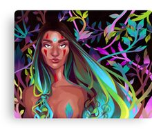 Naked Leaves Canvas Print