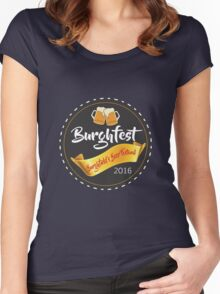 Burghfest!  Women's Fitted Scoop T-Shirt