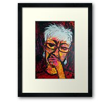 Self-Portrait with Paintbrush Framed Print