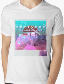 SOFTVORE: Vaporwave Gone Wild Mens V-Neck T-Shirt