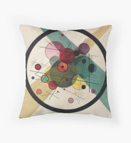 Wassily Kandinsky - Circles In A Circle 1923  Throw Pillow