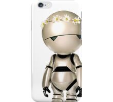 Marvin with flower crown iPhone Case/Skin