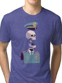 captain skull Tri-blend T-Shirt