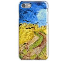 Vincent Van Gogh - Wheatfield With Crows, July 1890 - 1890  iPhone Case/Skin